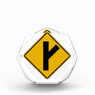 Side Road Oblique Right, Traffic Warning Sign, USA Award