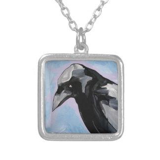 side shot square pendant necklace