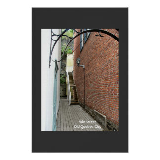 Side Street and Stairs - Old Quebec Print