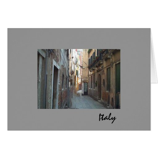 Side Street in Italy Cards