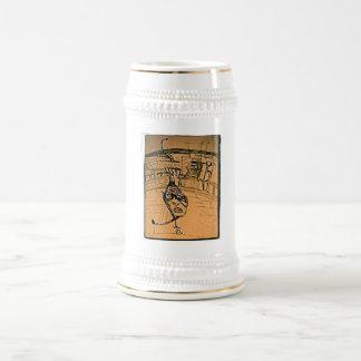 side swipe beer stein