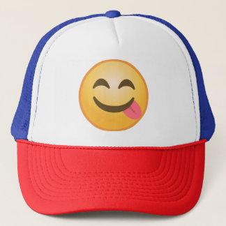Side Tongue Emoji Trucker Hat