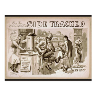 Side Tracker,'Quick Lunch' Retro Theater Postcard