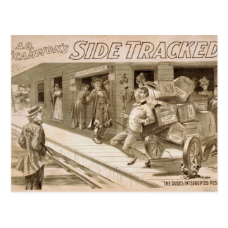 Side Tracker,'The Dude Interrupted pose' Retro The Postcard