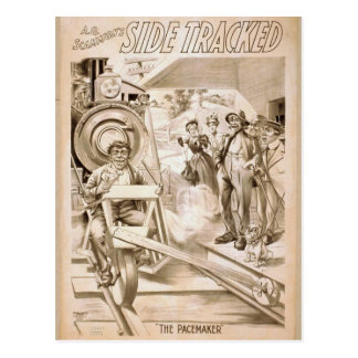 Side Tracker,'The Pacemaker' Retro Theater Postcard
