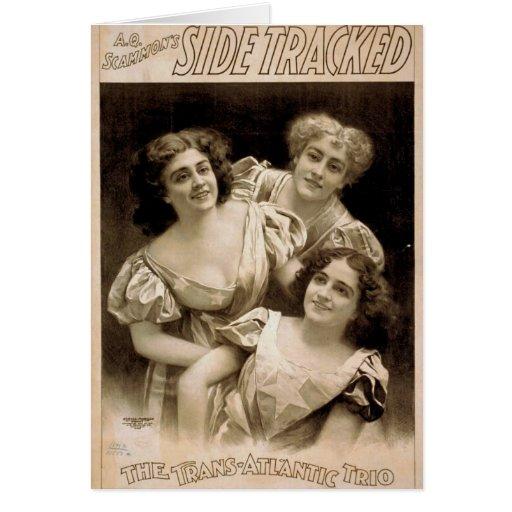 Side Tracker,'The Trans Atlantic Trio' Retro Theat Greeting Card