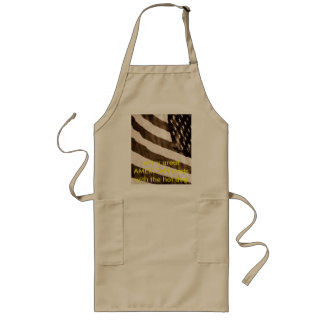 SIDE VIEW, every great AMERICAN starts with the... Long Apron