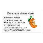 side view leprechaun head clover hat.png business card template