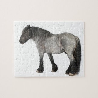 Side view of a Belgian horse, Belgian Heavy Jigsaw Puzzle