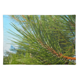 Side view of a pine branch with long needles placemat