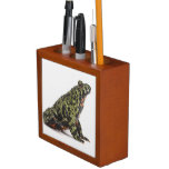 Side View of an Oriental Fire Bellied Toad Pencil/Pen Holder