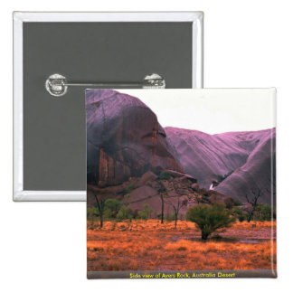 Side view of Ayers Rock, Australia Desert Buttons