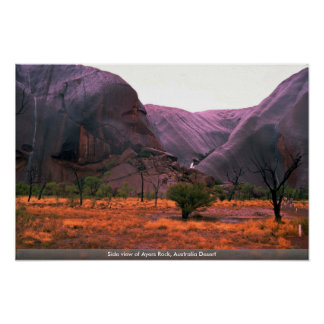 Side view of Ayers Rock, Australia Desert Posters