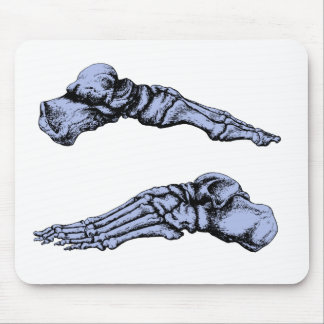 Side view of bones of the feet - deep blue mouse pad