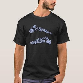 Side view of bones of the feet - deep blue T-Shirt