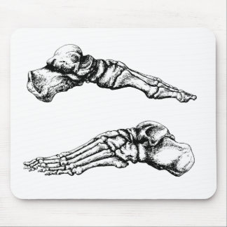 Side view of bones of the feet mouse pad