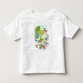 Side view of children studying by potted plant t shirt