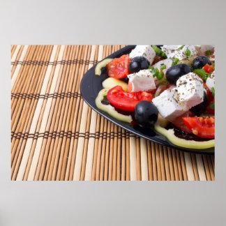 Side view of fresh vegetarian salad poster