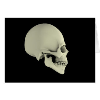 Side View Of Human Skull Card