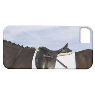 side view of saddled horse iPhone 5 cover