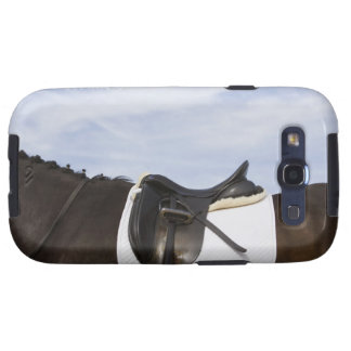 side view of saddled horse galaxy SIII cases
