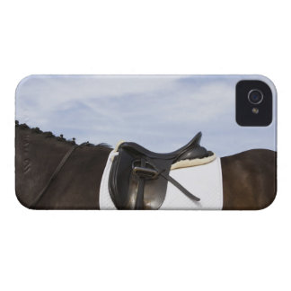 side view of saddled horse iPhone 4 case