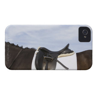 side view of saddled horse iPhone 4 Case-Mate case