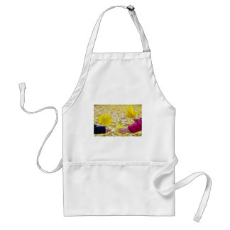 Side view of the hands of young girls and women cl adult apron