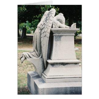 Side View of Weeping Angel Card
