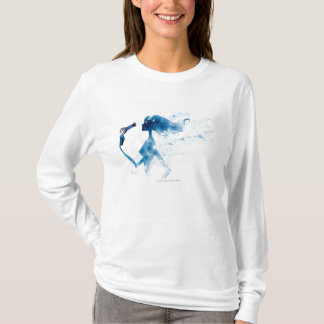 Side view of woman blow drying long hair T-Shirt