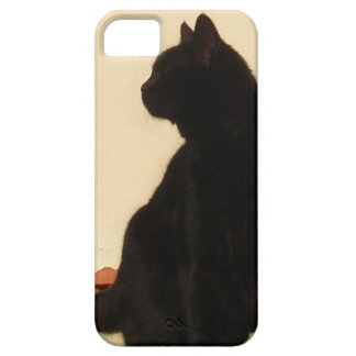 Side View Silhouette of A Black Cat Sitting On A R iPhone SE/5/5s Case