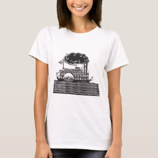 Side wheel Riverboat in waves T-Shirt