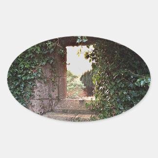 Side Window at West Kirk Culross Oval Sticker