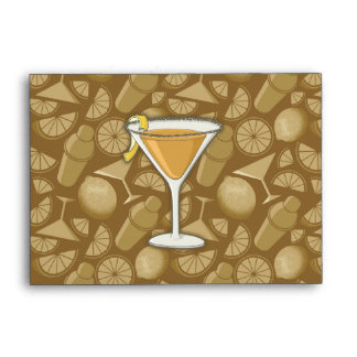 Sidecar cocktail envelope