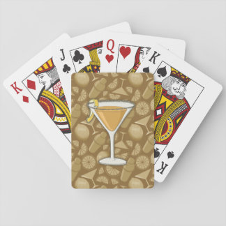 Sidecar cocktail playing cards