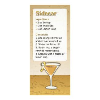 Sidecar cocktail recipe rack card