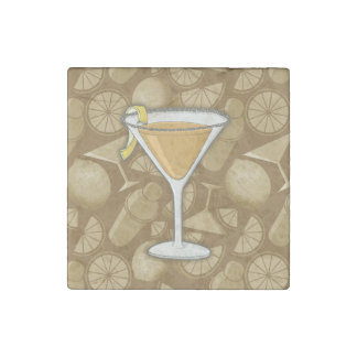 Sidecar cocktail stone magnet
