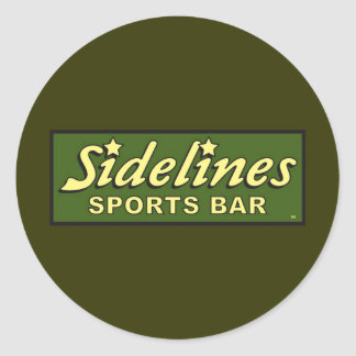 sidelines sports bar extract movie mike judge classic round sticker