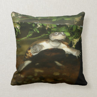 Sideneck turtle staring at viewer throw pillow