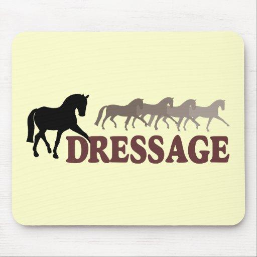 Sidepass Dressage (black/burgundy) Mouse Pad