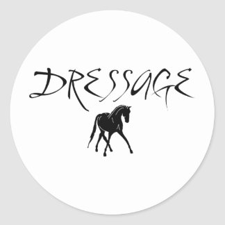 Sidepass Horse With Dressage Text Stickers