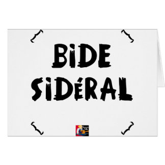 SIDEREAL BELLY CARD
