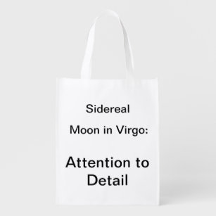 86d2d4e0d19 Sidereal Moon in Virgo  Attention to Detail Grocery Bag