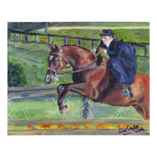 Sidesaddle Horse Show Portrait Poster