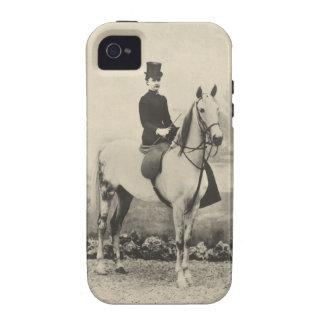 Sidesaddle rider sepia photo iPhone 4 cases