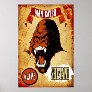 Sideshow Art - Shetani the Man- Eating Gorilla Poster