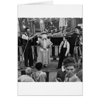 Sideshow at the Circus: 1942 Card