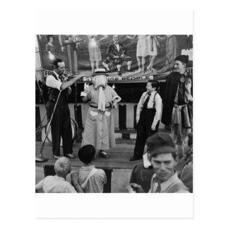 Sideshow at the Circus: 1942 Postcard