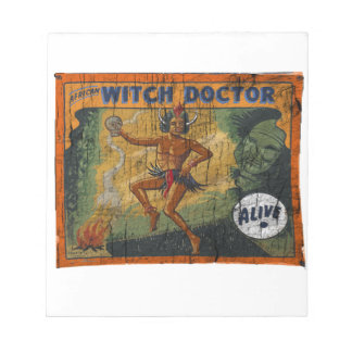Sideshow Banner Witch Doctor Notepad