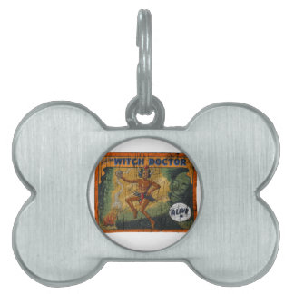 Sideshow Banner Witch Doctor Pet Name Tag